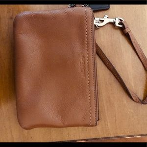Coach leather wallet 6 in wide